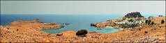 Pearl of Rhodos - Lindos (Katarina 2353) Tags: sea summer panorama film landscape nikon europe hellas greece rhodes lindos rodhos katarinastefanovic katarina2353