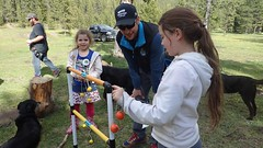Learning a New Game (Oldman Watershed) Tags: dutch creek 2016 backcountry outreach assistants engaging recreationists ohv surveys camping dutchcreek