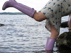 Water out (jazka74) Tags: wellies rubber boots hunter wet use fun lake