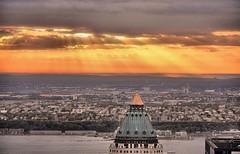 Jersey sunset (poludziber1) Tags: city nyc light sunset sky orange usa ny yellow skyline america river cityscape landscap