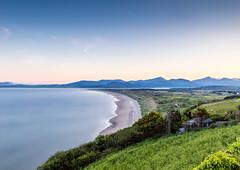 Harlech Beach, The Llyn and Royal St Davids Dawn (tonymorrison.tepd) Tags: uk sun seascape water weather wales year places type harlech sunsetsunrise 2016