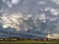 Mammatus @ 7:49:10PM (Explored) (northern_nights) Tags: mammatusclouds crepuscularrays cloudsstormssunsetssunrises 6000views skycloudssun explore 222 inexplore