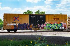 (o texano) Tags: work bench graffiti texas houston trains tko freights benching jasf