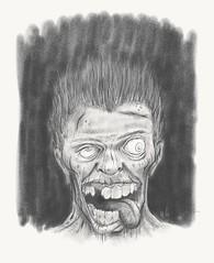 Zombie... (LukeDaDuke) Tags: man eye face tongue illustration photoshop hair sketch drawing zombie teeth sketching adobe draw handdrawn ipad adobesketch ipadpro