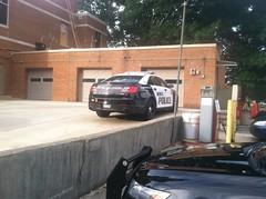 Berea Police FPI Sedan Outside Station Garage (Sergiyj) Tags: ohio ford sedan police emergency taurus interceptor berea 2013