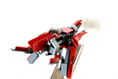 art aquali viii (quý) Tags: red art star stand fighter ship lego creation base moc starfighter