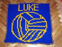 Luke's Rossa GAA afghan (dochol) Tags: baby chart cute wool handmade crochet graph yarn blanket bebe manta gaelic babyblanket personalised croche gaa babyname gaelicfootball gaafootball rossagaa