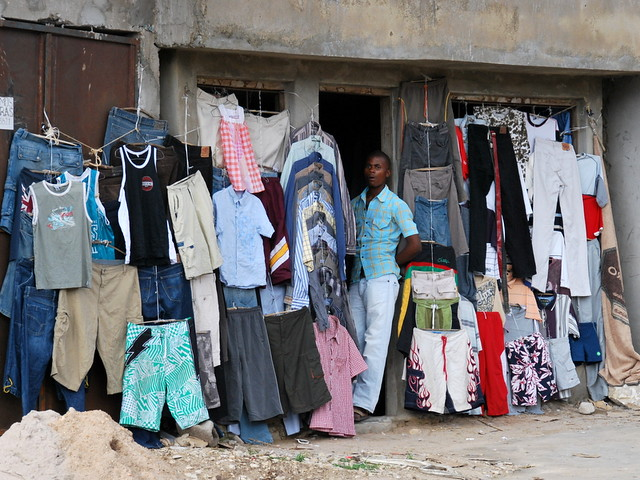 Selling cloth in Nacala