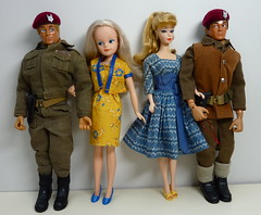 Action Man took Geo's advise and went to find himself a date (Zululu2) Tags: vintage doll dolls vehicle actionman sindy