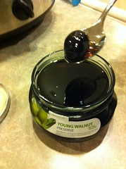 Young black walnut preserve (Noyan brand, product of Armenia) (Paul Beppler) Tags: food black green portugal essen sweet lisboa walnut alimento armenia grin gastronomia sis grün preserve süss nus gastronomy siss nozes 1845 nahrung walnuss conserva konserve süs adanson griin aglaé baumnuss youngwalnut aglaéadanson dulcazia