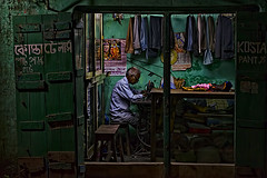 The Tailor (Chiradeep.) Tags: night lowlight nikon streetphotography d5100 mygearandme ringexcellence