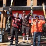 Panorama Miele Cup Spring Series 2012 - Day 2 Men's Overall Slalom Podium 1. Paul Stutz; 2. Sasha Zaitsoff; 3. Philip Brown PHOTO CREDIT: Brandon Dyksterhouse