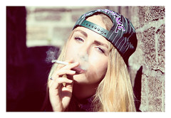 Supreme (nicholaspaulstudio) Tags: portrait girl hat modeling cigarette smoke smoking ellie supreme empson