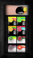 [NEW] Fruity Summer SHORT nails ([VIRTUAL/INSANITY] / Loviathar Hellman) Tags: life new orange color cute make fruit tomato fun lemon colorful nail makeup watermelon sl nails secondlife virtual second grapefruit manicure insanity accessories taste citrus kiwi cosmetics fruity vi sculpted virtualinsanity tosl