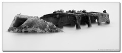 Bognor Regis Wreck (Fred255 Photography) Tags: sea england blackandwhite beach water canon raw slow solent fred derelict bognorregis markiii greatphotographers canoneos1dmarkiii nd110 eos1dmarkiii bwnd110 fred255 greaterphotographers fred255photography2013