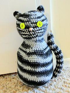 Amigurumi Black Cat Door Stopper : Ravelry: Amigurumi Black Cat Door Stopper pattern by Lion ...