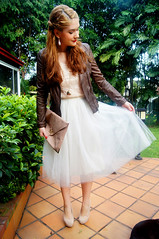 Ballerina by The Joy of Fashion (2) (the joy of fashion) Tags: fashion feminine style romantic outfits leatherjacket motorcyclejacket tulleskirt fashionblog tutuskirt joyoffashion