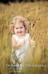 (hmarynka.) Tags: light red portrait cute girl field grass families adorable curly photograph backlit tutu babytoddler