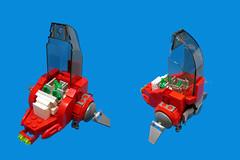 Froggie orbital landing shuttle (Karf Oohlu) Tags: lego frog shuttle lander microscale frogspace frogscale rbital