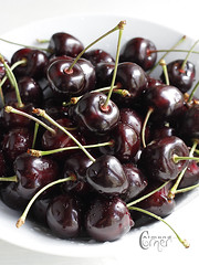 Cherries (almondcorner) Tags: cherry bowlofcherries darkcherry wetcherries