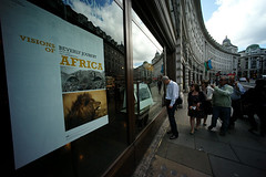 Visions of Africa (wildlifefilms) Tags: africa london photography regentstreet exhibition visionsofafrica dereckjoubert beverlyjoubert wildlifeconservationfilms