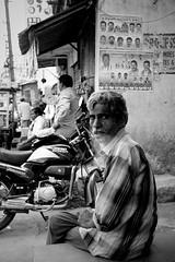 letting out smoke (Lazybug) Tags: street portrait bw india festivals hyderabad bonalu lumixg1 lumix20mmf17