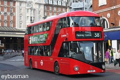 Arriva London LT2, LT61BHT. (EYBusman) Tags: city bus london station electric diesel south centre transport central victoria route prototype hackney hybrid regional cowie 38 wrights arriva leaside nb4l eybusman borismaster lt61bht