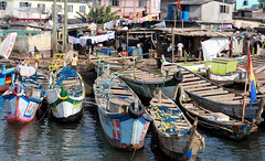 Elmina harbor (Makaiohana1) Tags: africa dutch ghana fishingboats goldcoast colonialism portugese slavetrade elmina