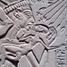 House Altar wih Akhenaten, Nefertiti and Three Daughters, detail with kiss