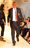 Sir Alex Ferguson Manchester United football manager poses on the catwalk during a Hublot Charity Dinner and Fashion Show event in aid of the MU Foundation at Shangri-La Hotel Shanghai, China