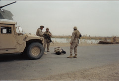 Detainee. (berryns1) Tags: usmc iraq cal marines 50 humvee m2 fallujah 50cal detainee euphratesriver iedattack m16s4