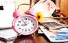 صبآآح آلخيـــــر (Alaa rashid   آلاء) Tags: morning flower watch ipad ساعة ورده وردي صباح روقان زهري ipone آيفون عزل تكوين ايباد