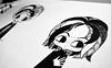 snape (Anita Mejia) Tags: sepia illustration pen ink movie hp traditionalart harrypotter books fanart tribute snape hermione jkrowling ronweasley chocolatita anitamejia