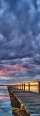 Light Surrounding Me (Tim Poulton) Tags: sunset lake water vertical clouds pier nikon focus jetty sydney australia panoramic schneider schneiderpctssuperangulon50mmf28