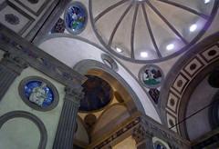 Luca della Robbia Rondels, Filippo Brunelleschi, Pazzi Chapel, Santa Croce, Florence