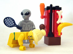 Area Fifty-One Shades Of Grey (Kaptain Kobold) Tags: lady grey lego alien banana carrot bone raquet kaptainkobold anastasiasteele 50shadesofgrey