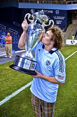 Kissing the Cup! (customsnow) Tags: cup hardware championship silverware champs pride celebration kansascity kansas trophy sporting winners livestrong champions lsp skc usoc bluehell sportingkansascity sportingkc livestrongsportingpark
