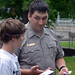 USACE Park Ranger helps during scavenger hunt