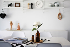 A Merry Mishap Blog Interior (Muriel Alvarez) Tags: white black interiors noir clean zen blanc homedecor scandi organized organisation blancandwhite épuré scandinave