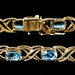 4053. Gold and Topaz Bracelet
