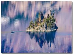 Phantom Ship Overlook, Crater Lake (3dphoto.net) Tags: blue lake water oregon caldera reflective rim pinetrees craterlakenationalpark fpg phantomshipoverlook