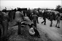 Action Day at Greenham Common (Pictures from the Ghost Garden) Tags: cruise blackandwhite bw film monochrome blackwhite peace protest documentary missile nvda directaction cnd blancetnoir weissundschwarz peacecamps
