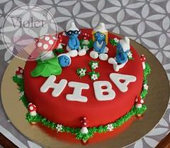Smurfette cake (Violet.bh) Tags: cake bahrain birthdaycake smurf smurfs smurfette
