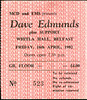 "19820416-Dave Edmunds-Belfast-16-Apr-1982-ticket-DC Cardwell • <a style=""font-size:0.8em;"" href=""http://www.flickr.com/photos/87767114@N03/8157273888/"" target=""_blank"">View on Flickr</a>"