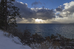 A Little Light Over Tahoe (Richard Thelen) Tags: usa sun snow art beach nature clouds canon nevada laketahoe bikini 7d landcape inclinevillage canon7d