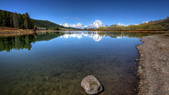 Mt Moran (RH Miller) Tags: usa mountains reflection water landscape spring snakeriver wyoming grandtetonnationalpark oxbowbend mtmoran reedmiller rhmiller