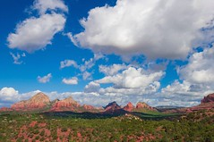 Monuments and Mesas (kirstenscamera) Tags: arizona sky vortex mountains green nature clouds outdoors nikon cloudy air sedona az bluesky hike redrocks