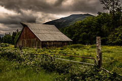 Little Red Barn (jeanmarie shelton) Tags: red sky nature architecture clouds barn fence landscape outdoors nikon farm wastate jeanmarie osowa jeanmarieshelton