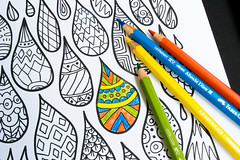 Patterned Drops Coloring Page (apolinarias) Tags: abstract art drop page coloring