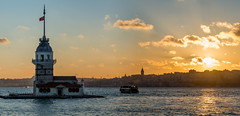 Uskudar - Sunset (Aleem Yousaf) Tags: sunset tower reflections turkey photo nikon walk istanbul maiden bosphorus d800 galata 70200mm uskudar kiz kulesi leanders